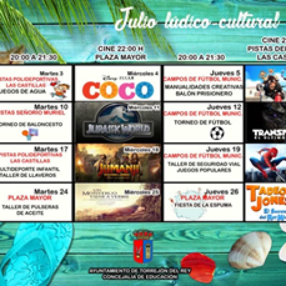 JULIO LÚDICO-CULTURAL 2018