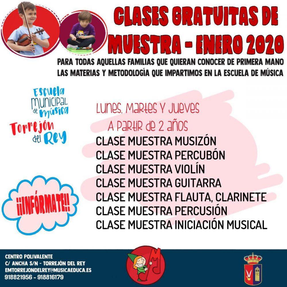 CLASES GRATUITAS DE MUESTRA